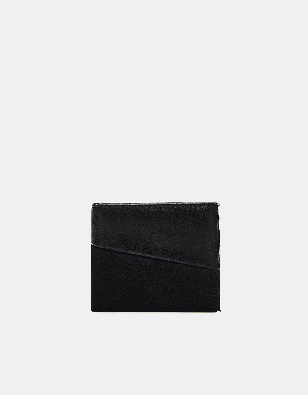 Contrasting faux leather wallet