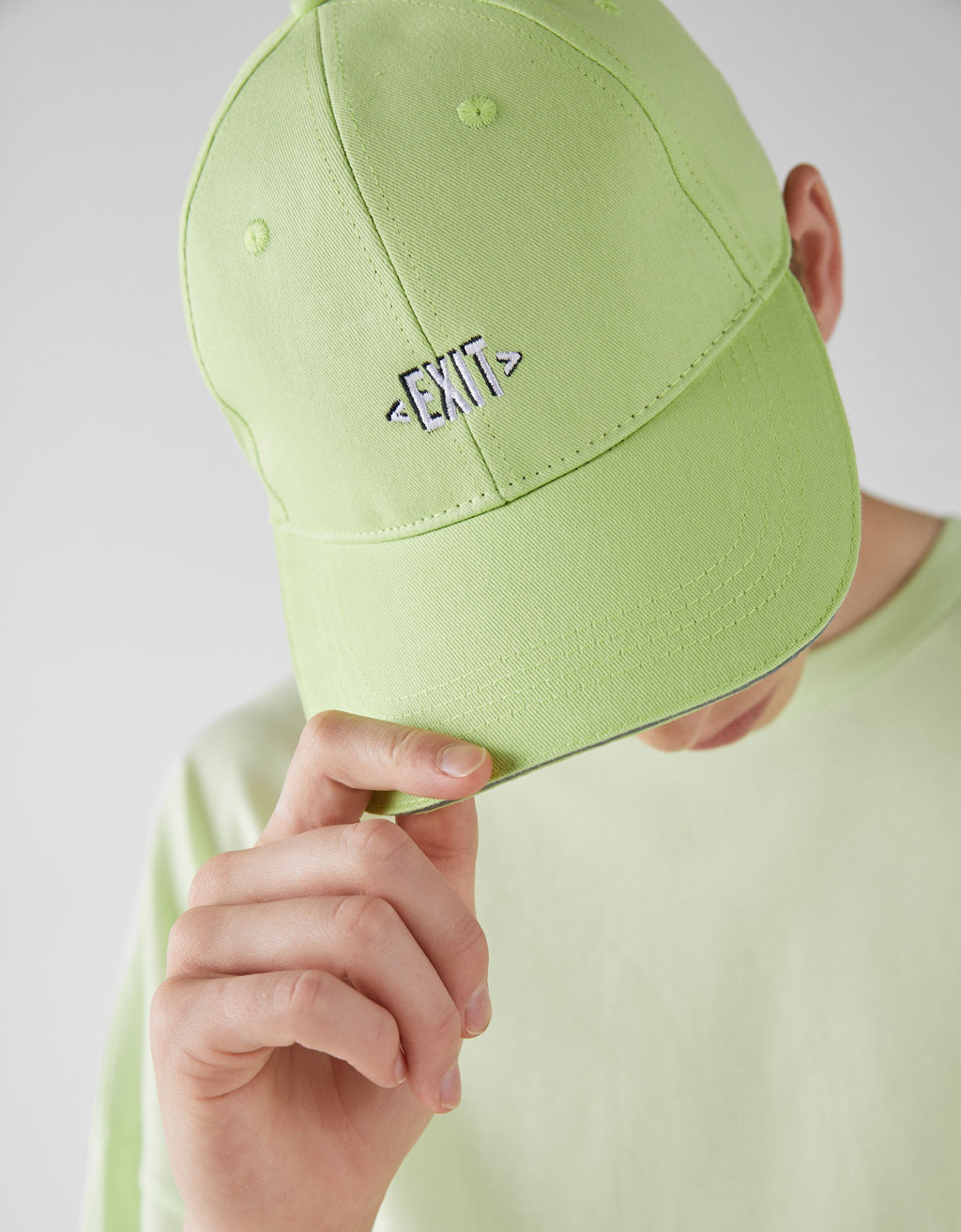 Embroidered neon cap