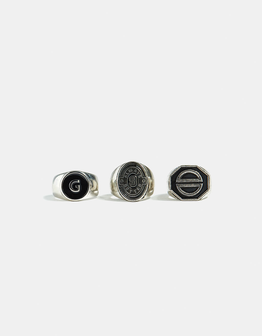 Set of 3 signet rings
