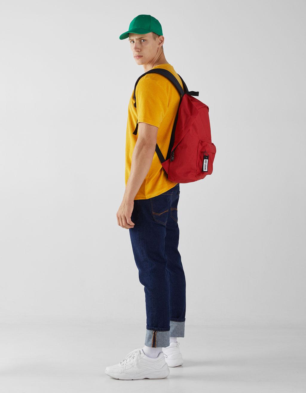 Rucksack mit Streifendetail