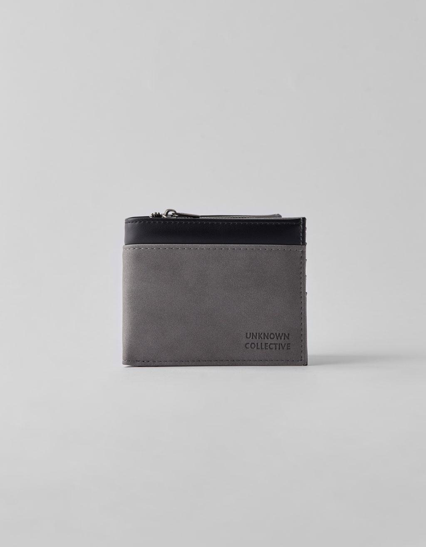 Kombinovaná peněženka s efektem kůže