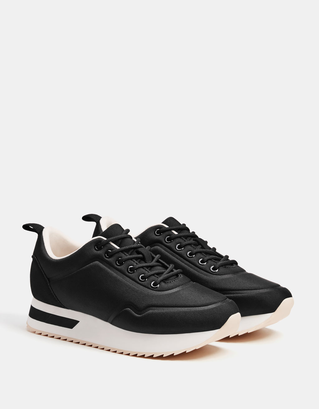Technical platform sneakers