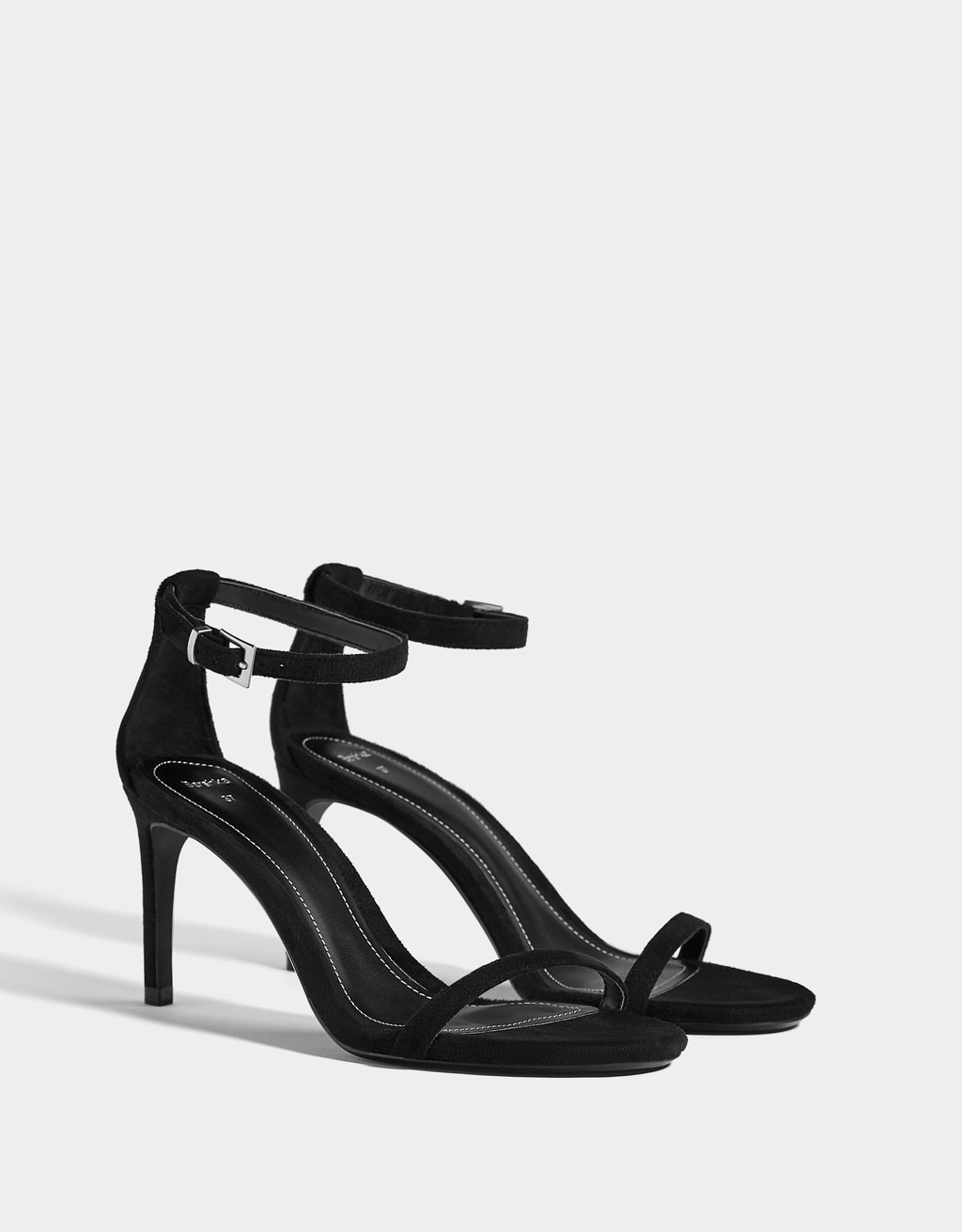 Stiletto heel sandals with ankle straps