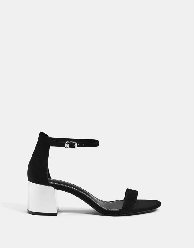 Sandalen mit Absatzdetail