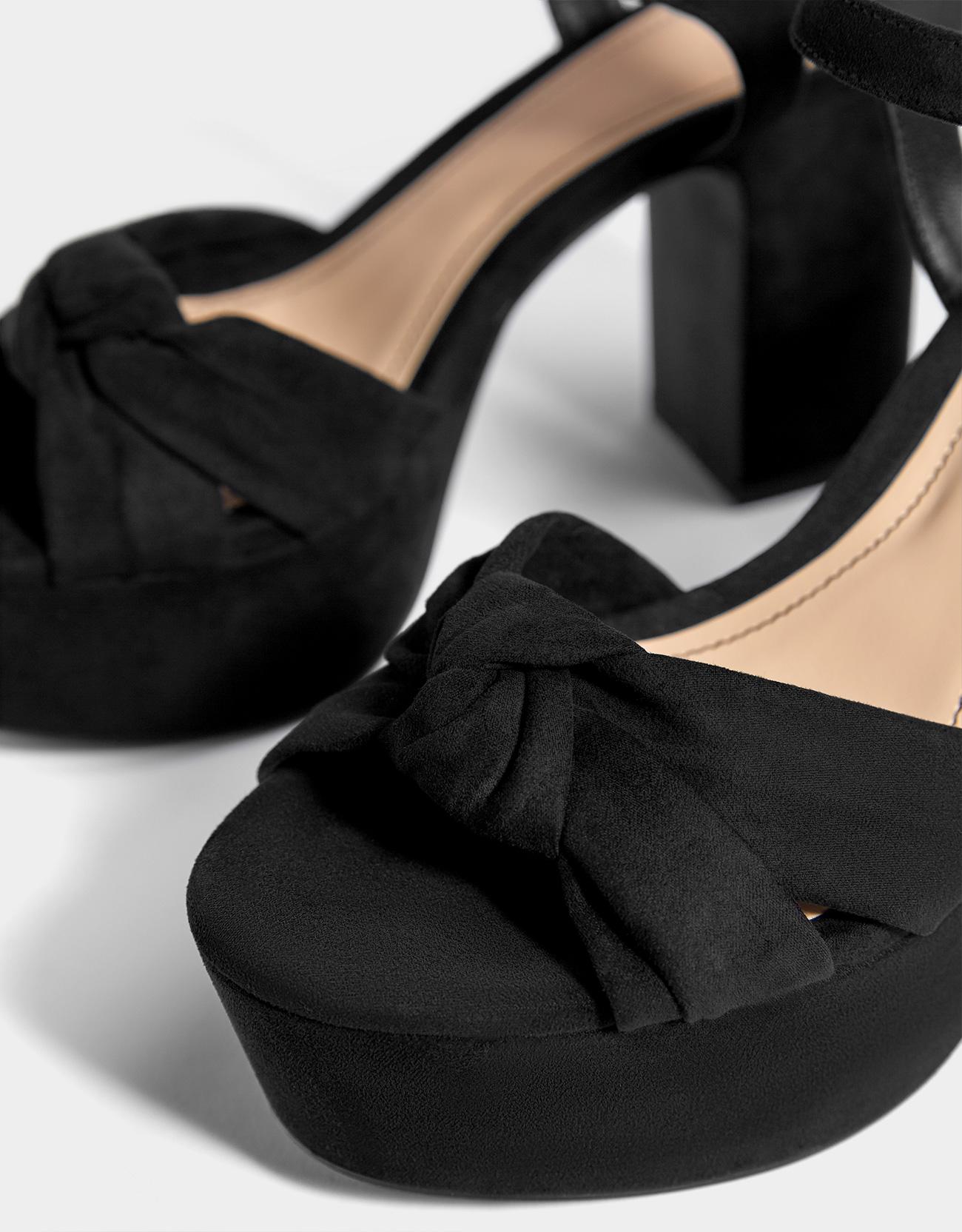 f8c5a659d7c High heel platform sandals - Flat Sandals - Bershka Ecuador