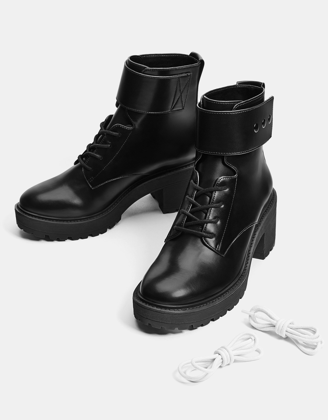 2553059921e Mid-heel platform ankle boots - New - Bershka Indonesia