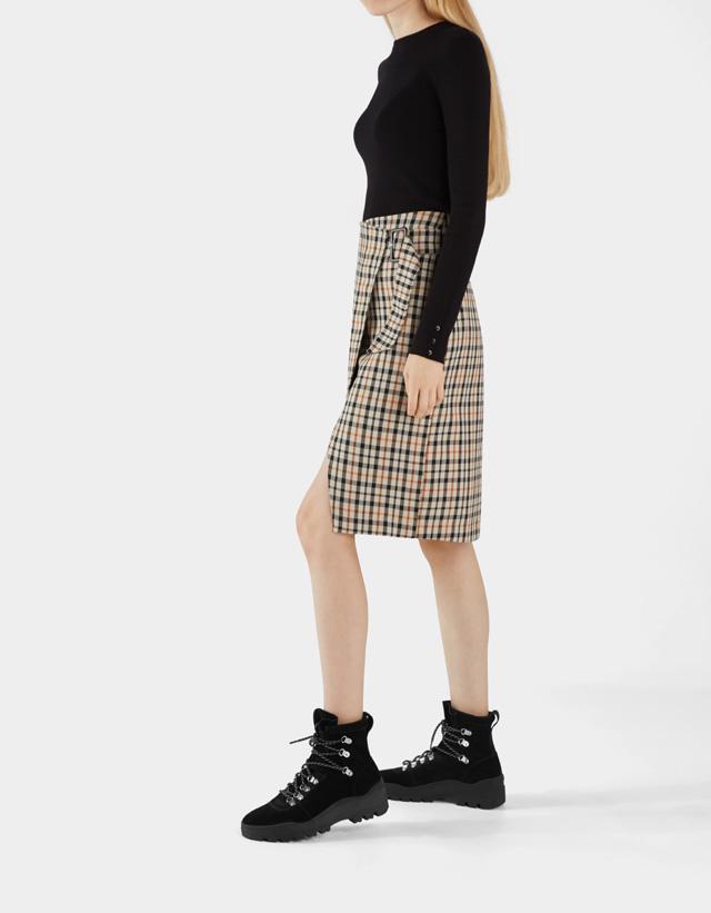 Stiefeletten aus Leder mit Profilsohle