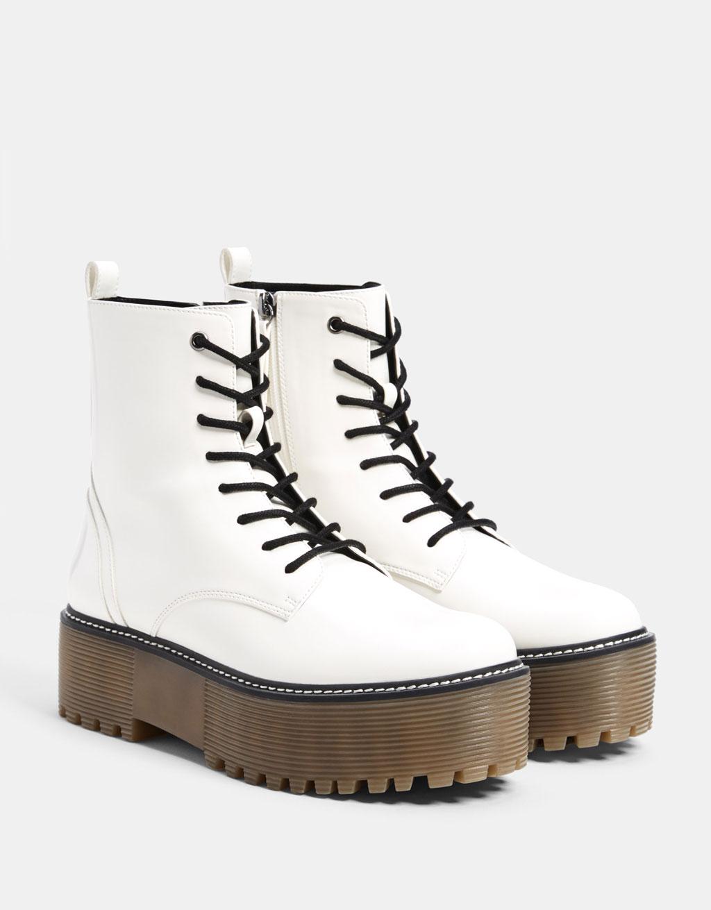 XL platform ankle boots