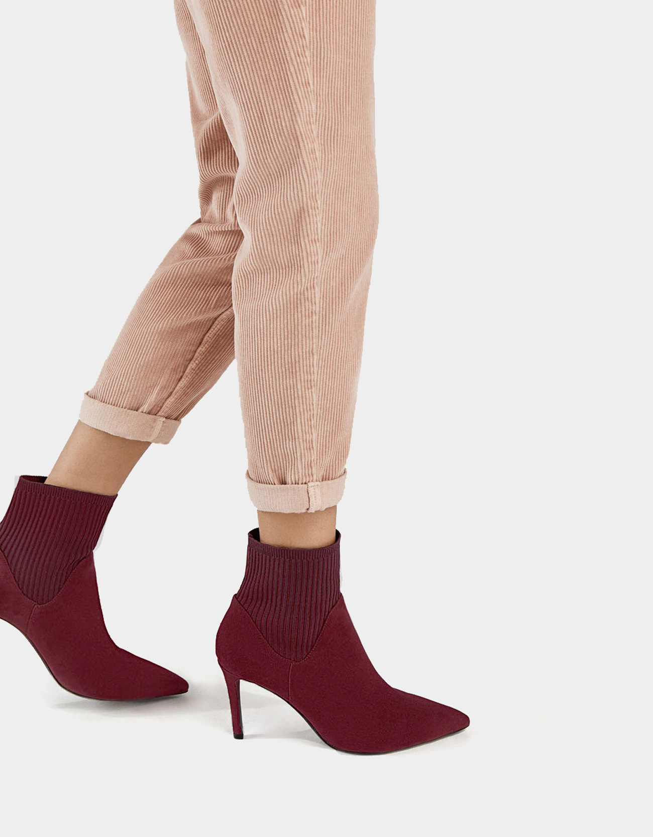 0d01c0f0c6d1 Stretch ankle boots with stiletto heels - Shoes - Bershka Albania