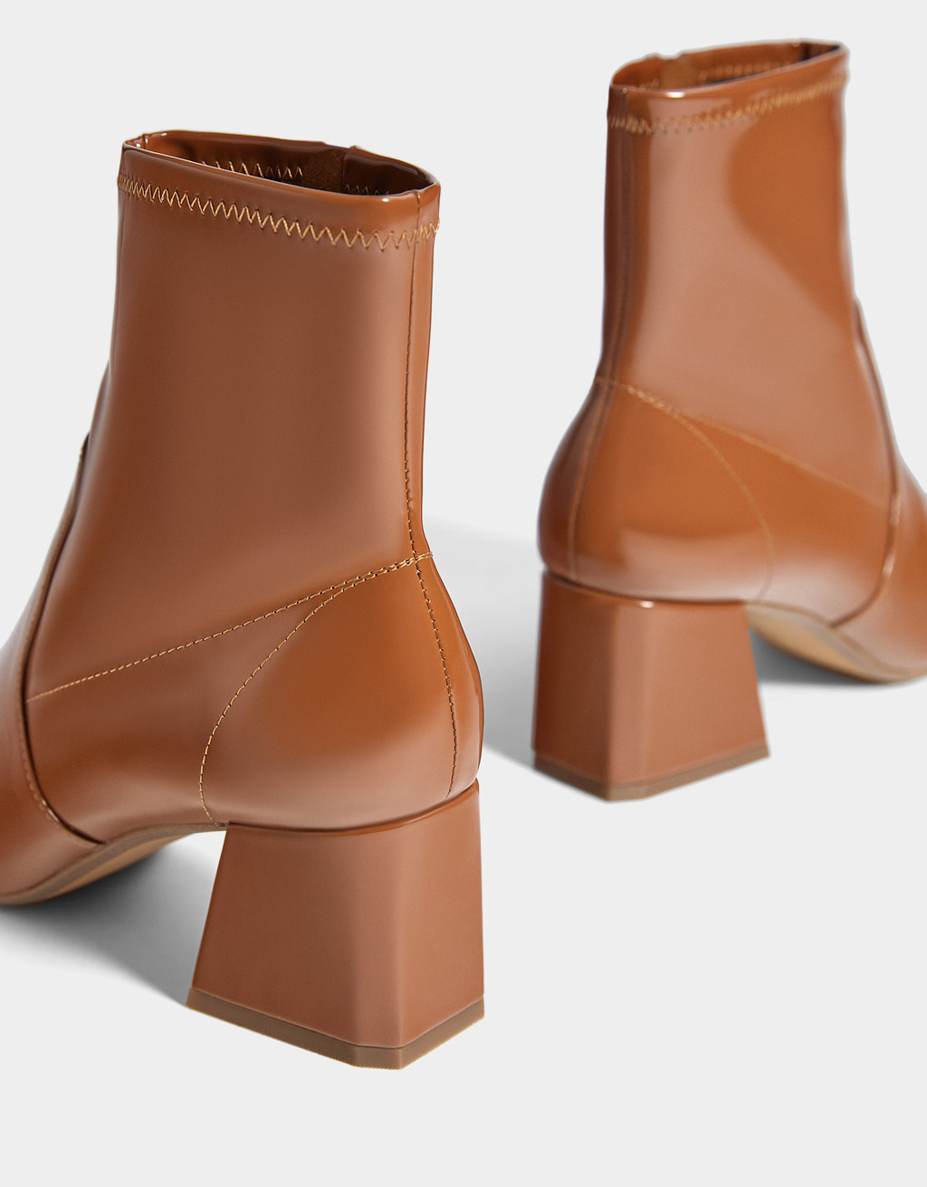 c22cab81cdf Mid-heel patent finish ankle boots - Boots & Ankle boots - Bershka ...