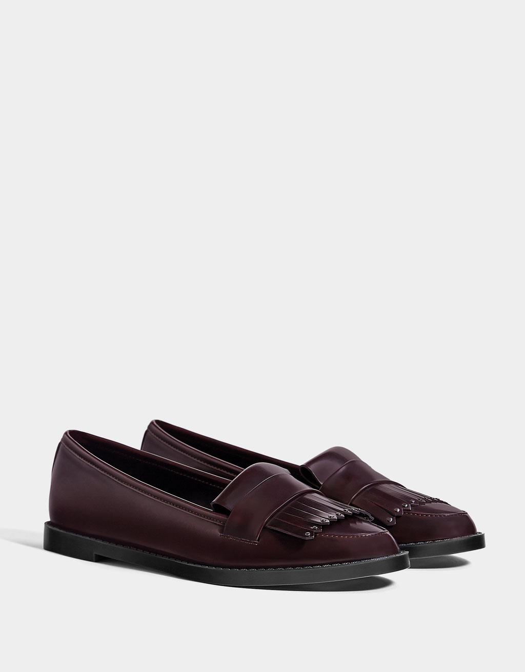 new release on feet images of popular design Burgundy loafers
