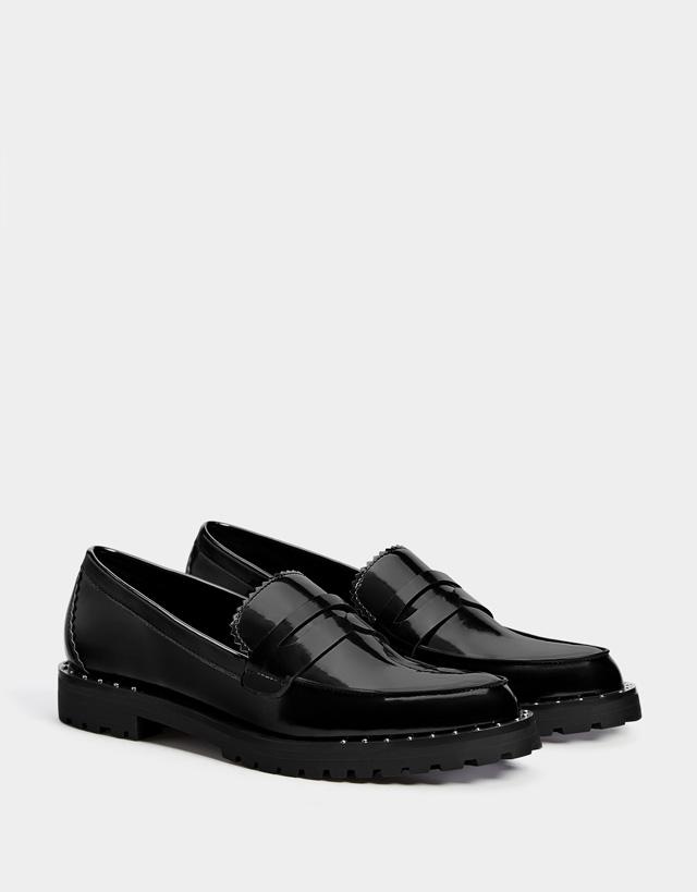d97d5ba62 Flats - Shoes - SALE - WOMEN - Bershka Macedonia
