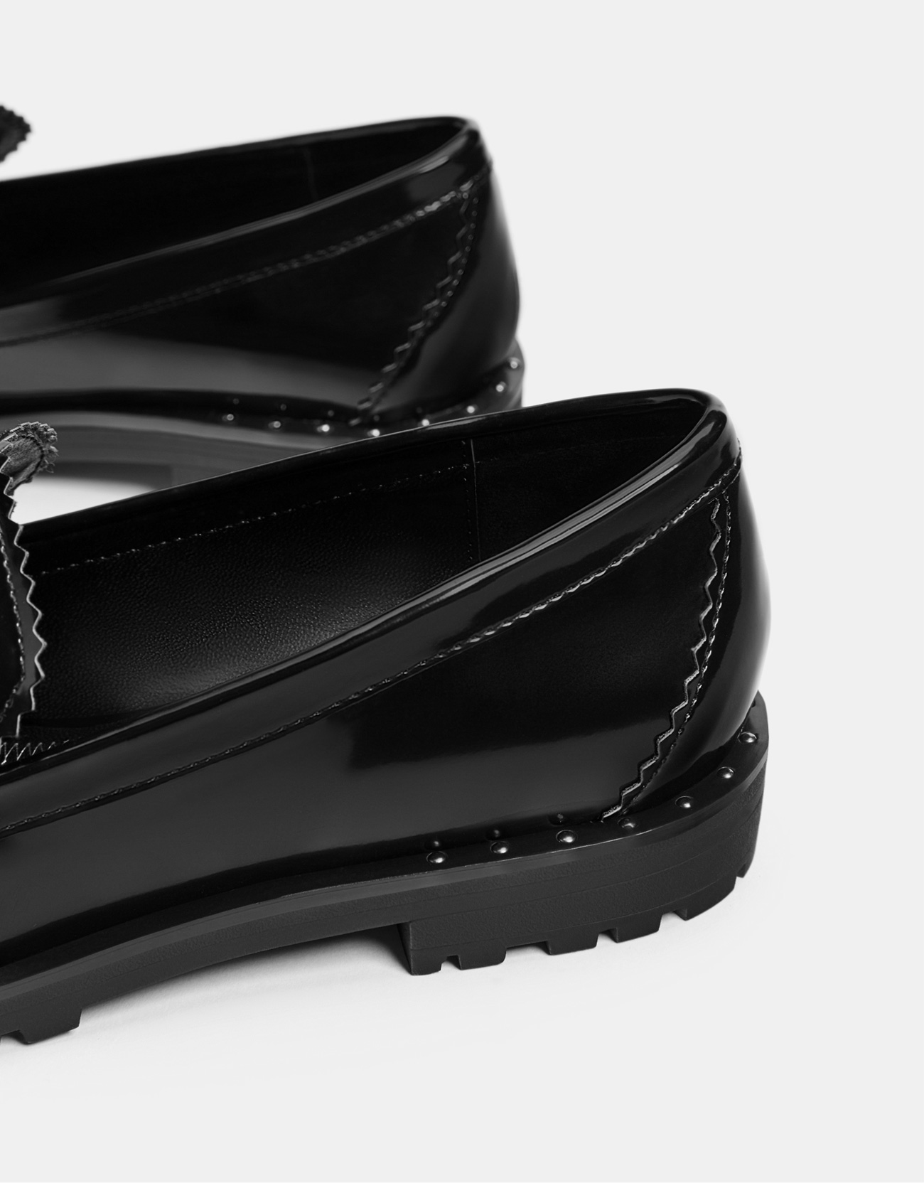 c89f8e85c7a5 Black studded penny loafers - Shoes - Bershka Macedonia