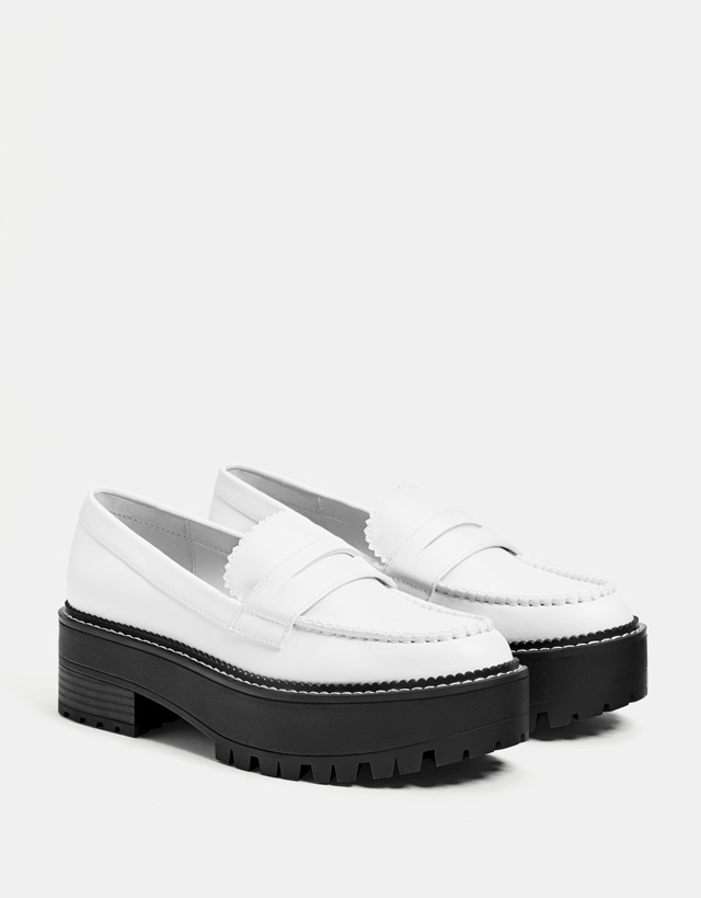 + colours. Platform loafers 39.90 JOD. WHITE. + colours · Black studded  penny ... 72d991e55