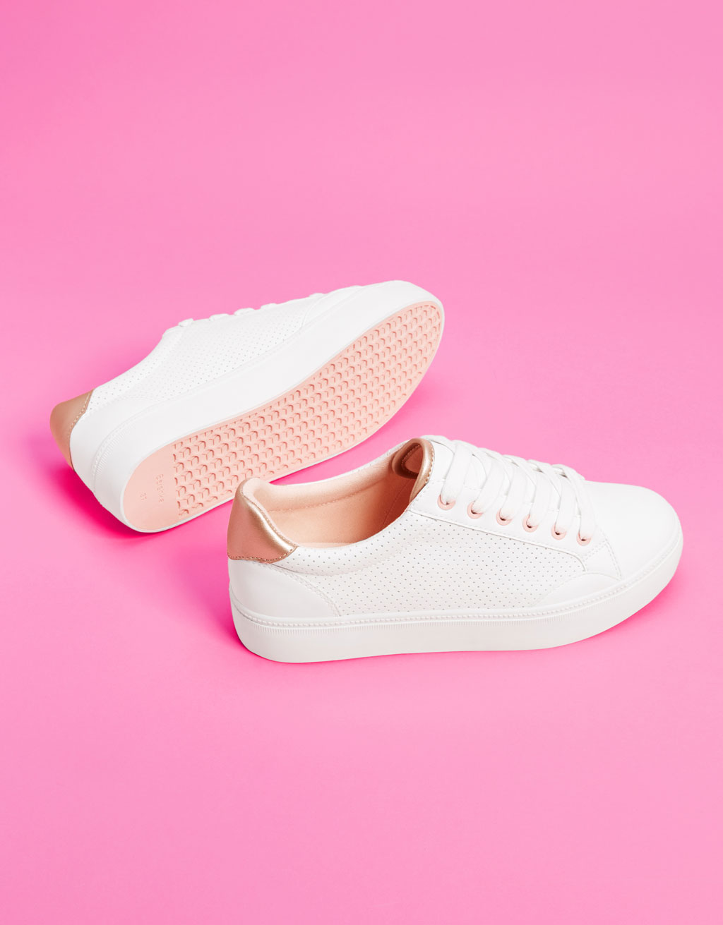 white-perforated-trainers by bershka