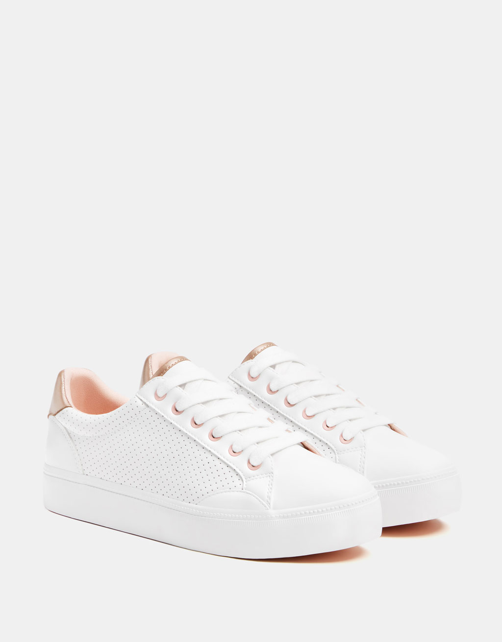 White perforated sneakers