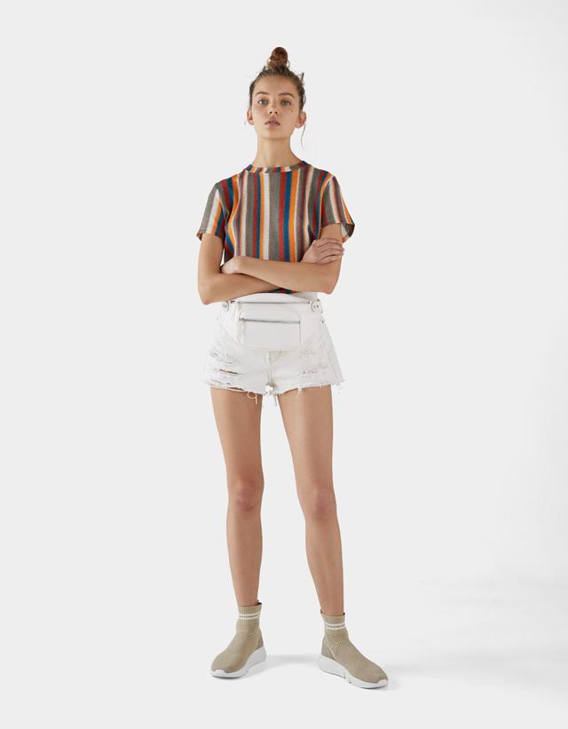 Sportliche Stiefelette mit elastischem Schaft