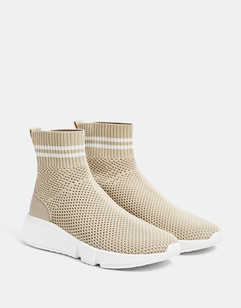 Sock-style high-top sneakers