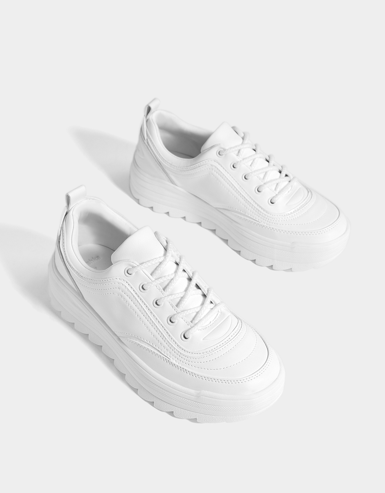 top quality best sale reasonably priced Bershka White platform sneakers at £25.99 | love the brands