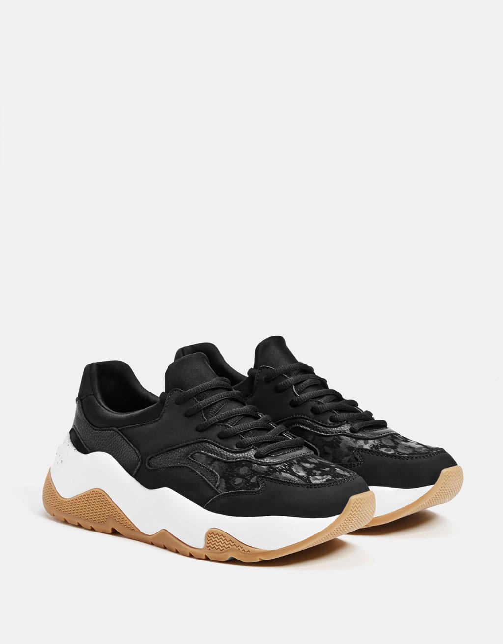 Kombinált platform sportcipő