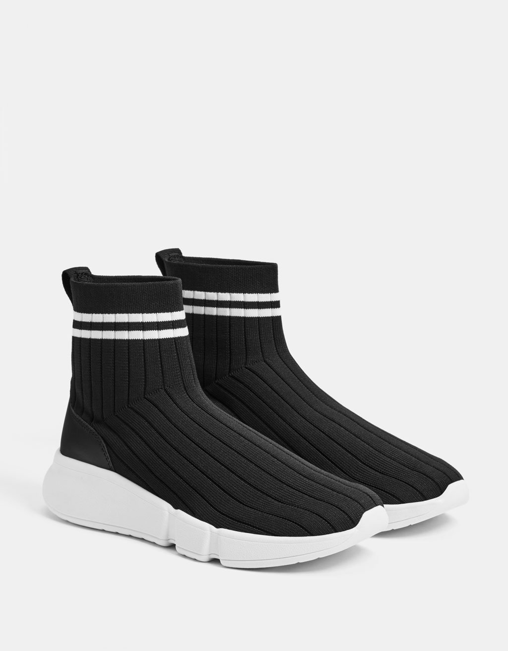 Sock-style high-top sneakers - null