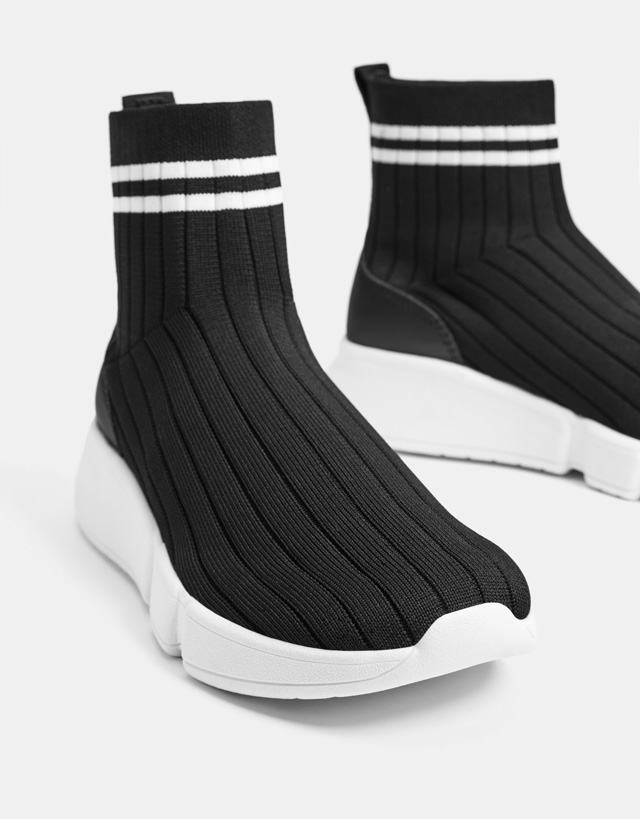 Sock-style high-top sneakers - Woman
