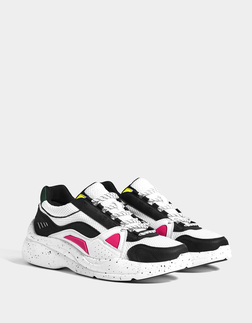 Women's trainers with multicoloured pieces