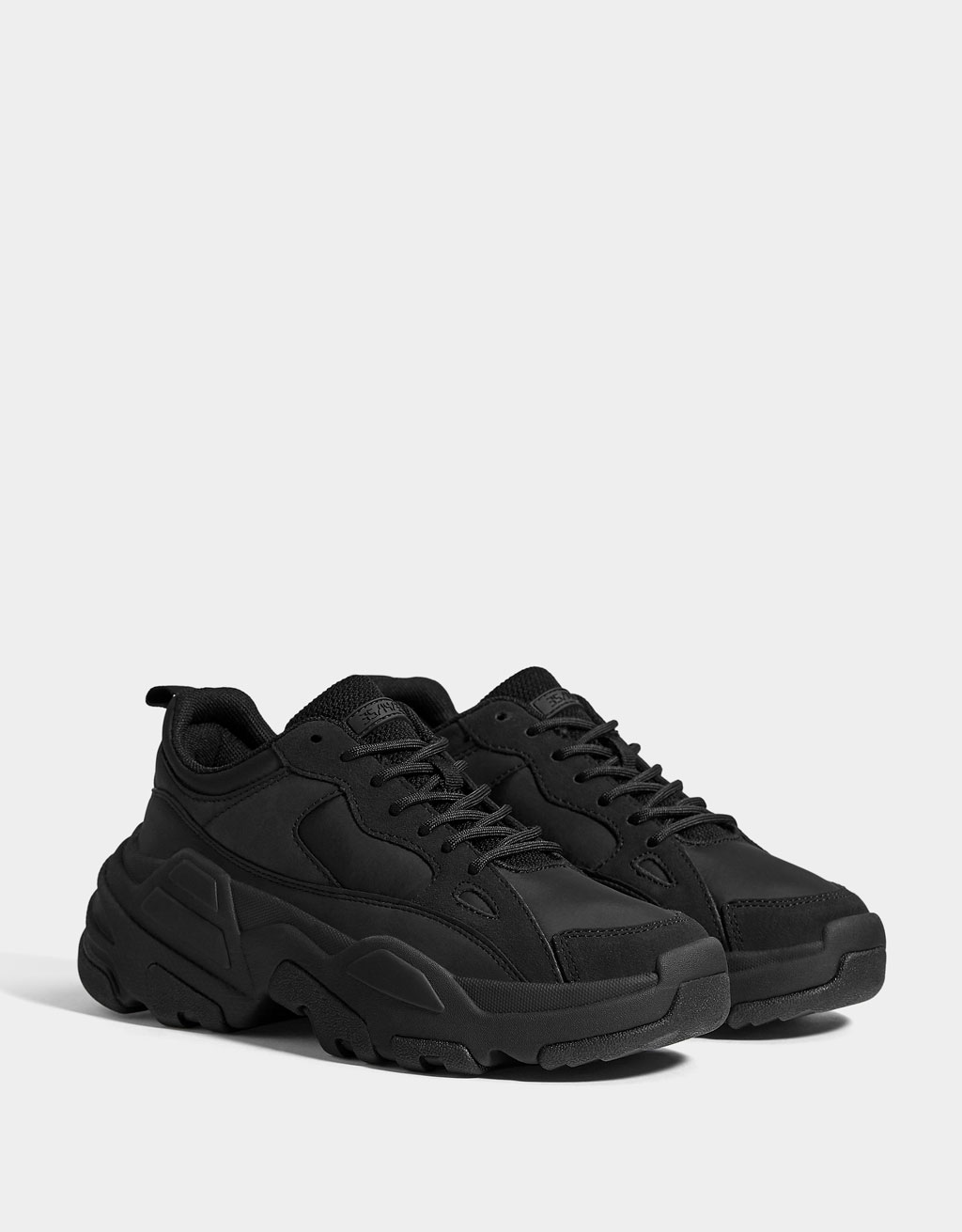 Women's monochrome XL sole trainers