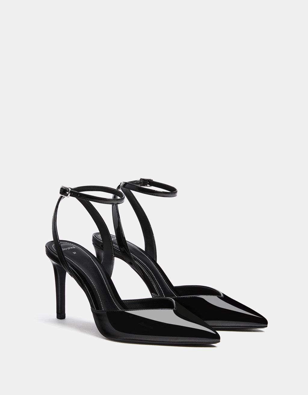 Zapato tacón destalonado charol
