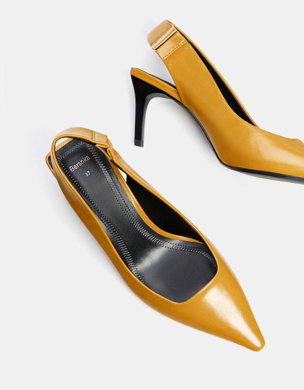 1bbc5831ec3b Mid-heel slingback shoes - SHOES - Bershka Honduras