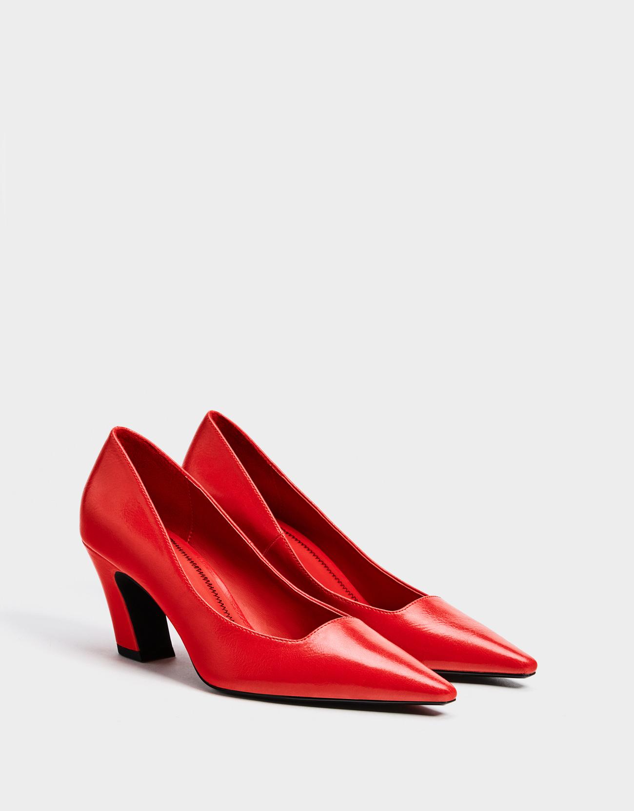 0b34cc4e459a Red mid-heel shoes - Exclusive online - Bershka Armenia