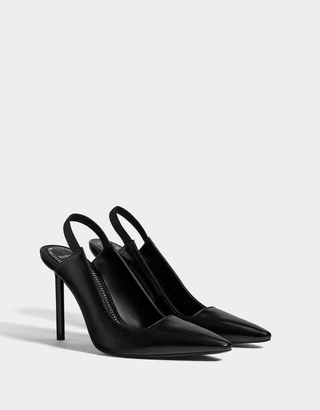 Sapato Alto Mules by Bershka