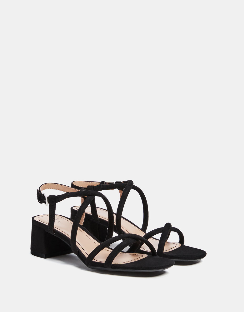 Sandals with tubular straps