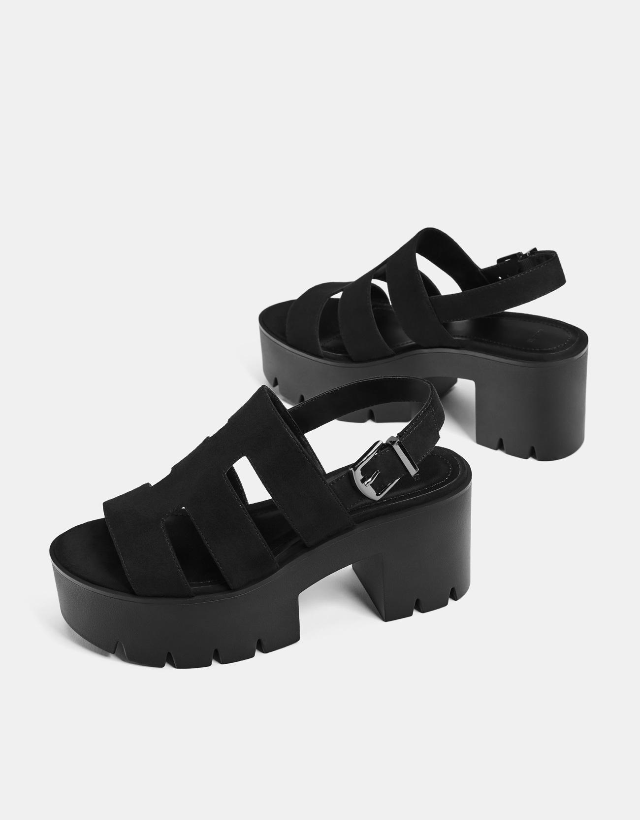 2d8f7049b272 Strappy platform sandals - SHOES - Bershka Armenia