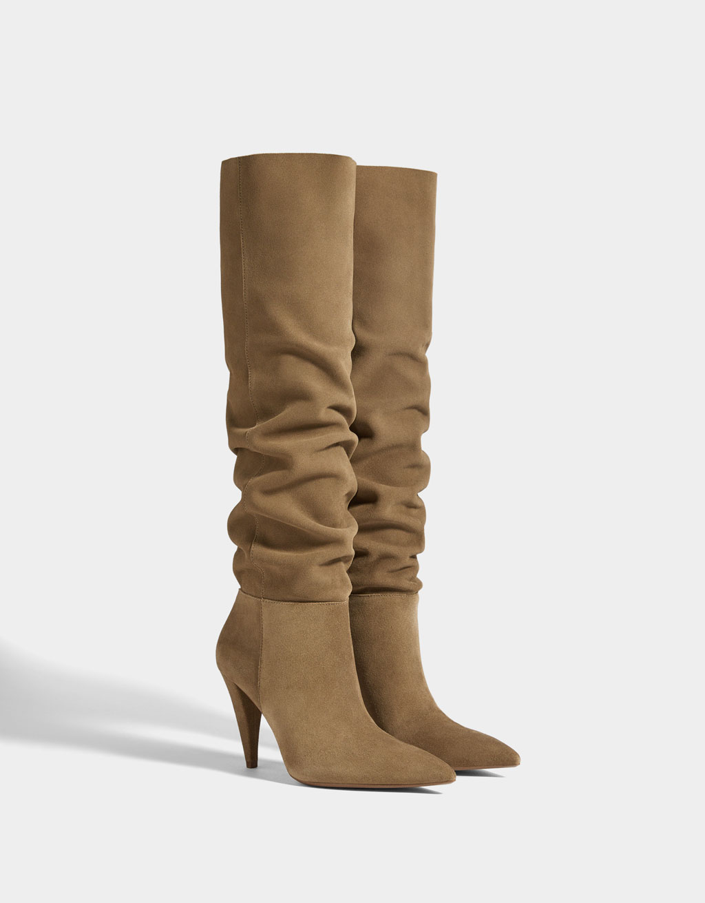 Stiletto-heel LEATHER boots