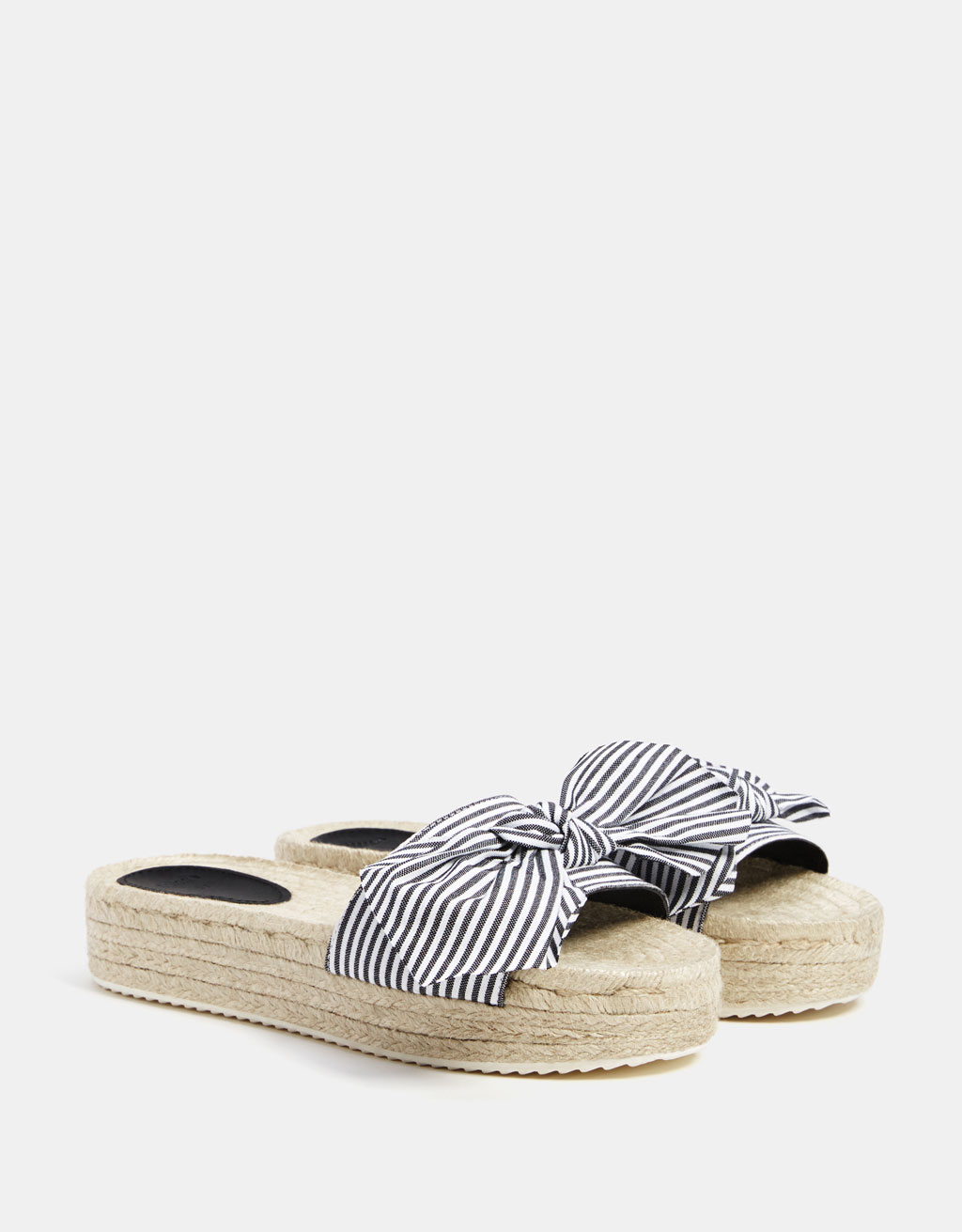 Striped slides with jute platforms