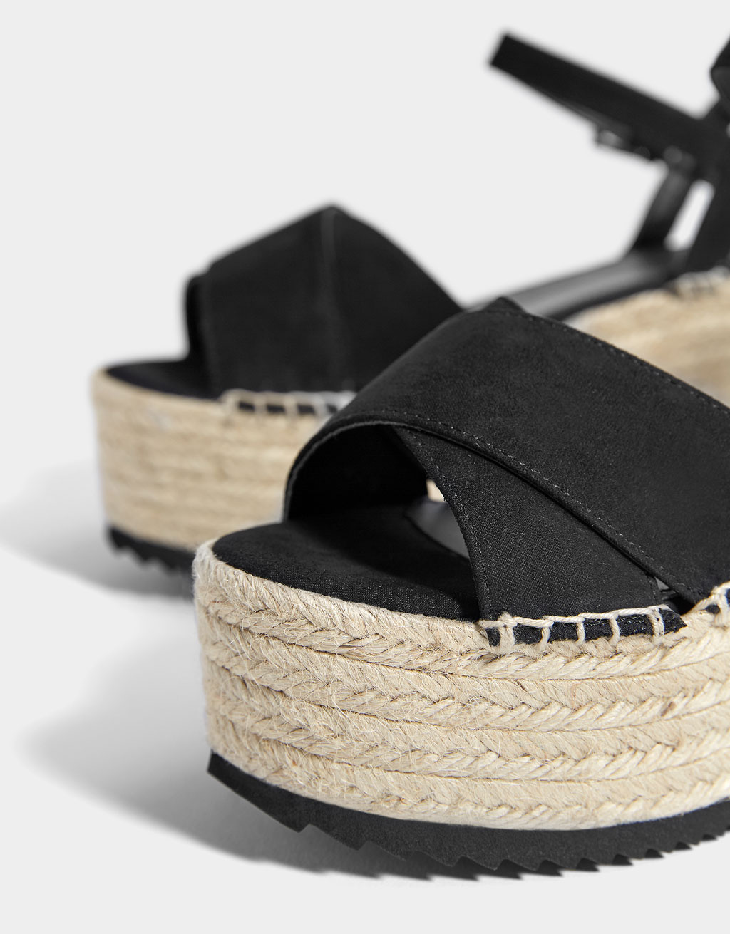 fbaaeedec36b Black jute platform sandals Black jute platform sandals ...