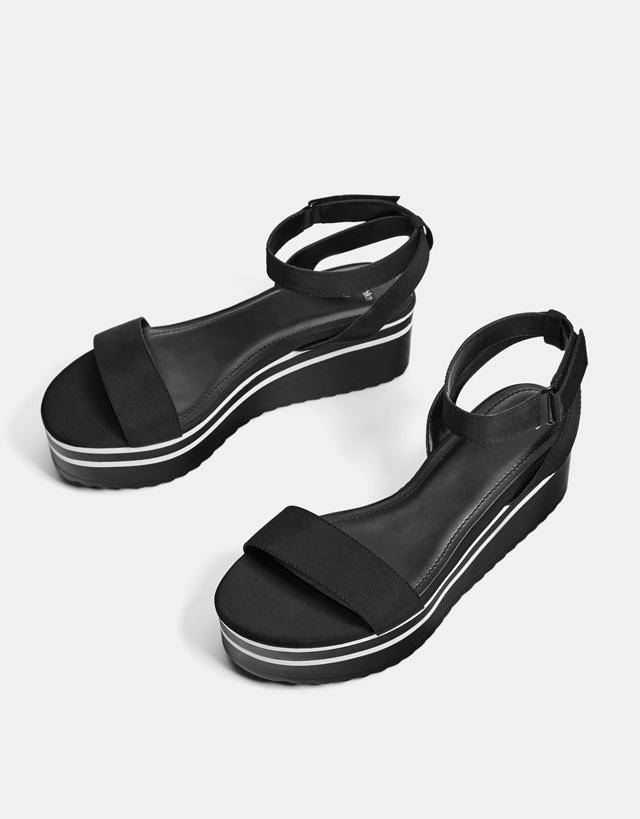 Sportliche Plateau-Sandale