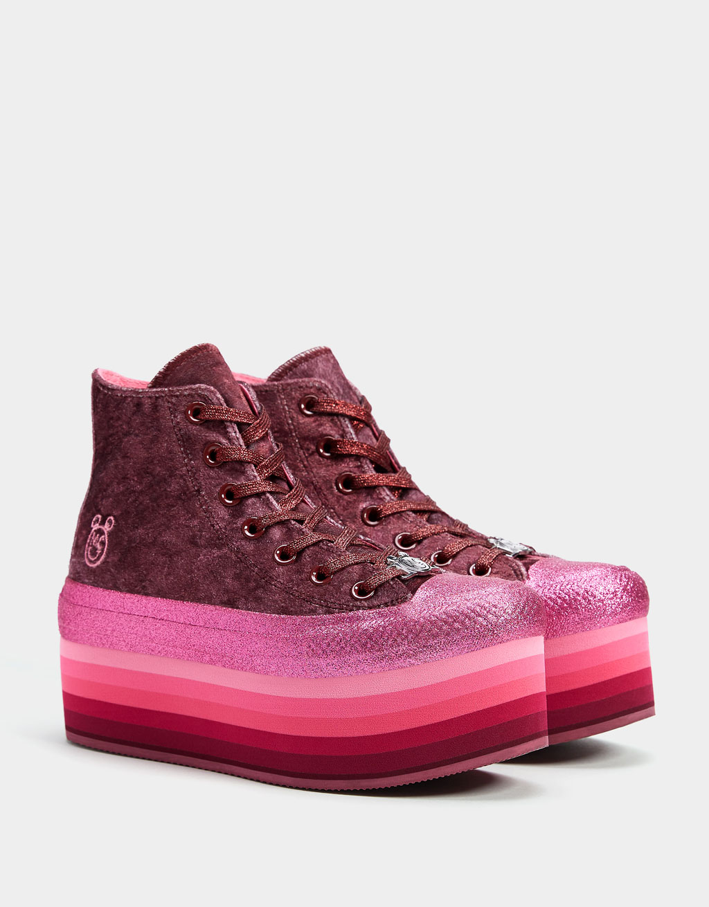 CONVERSE X MILEY CYRUS platform high-top trainers