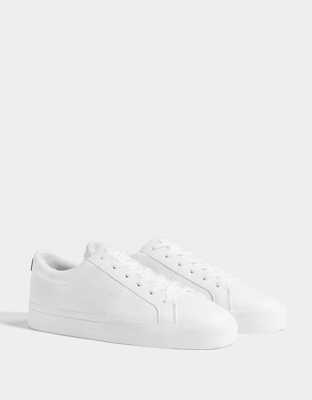 Sneakers met gaatjesmotief heren