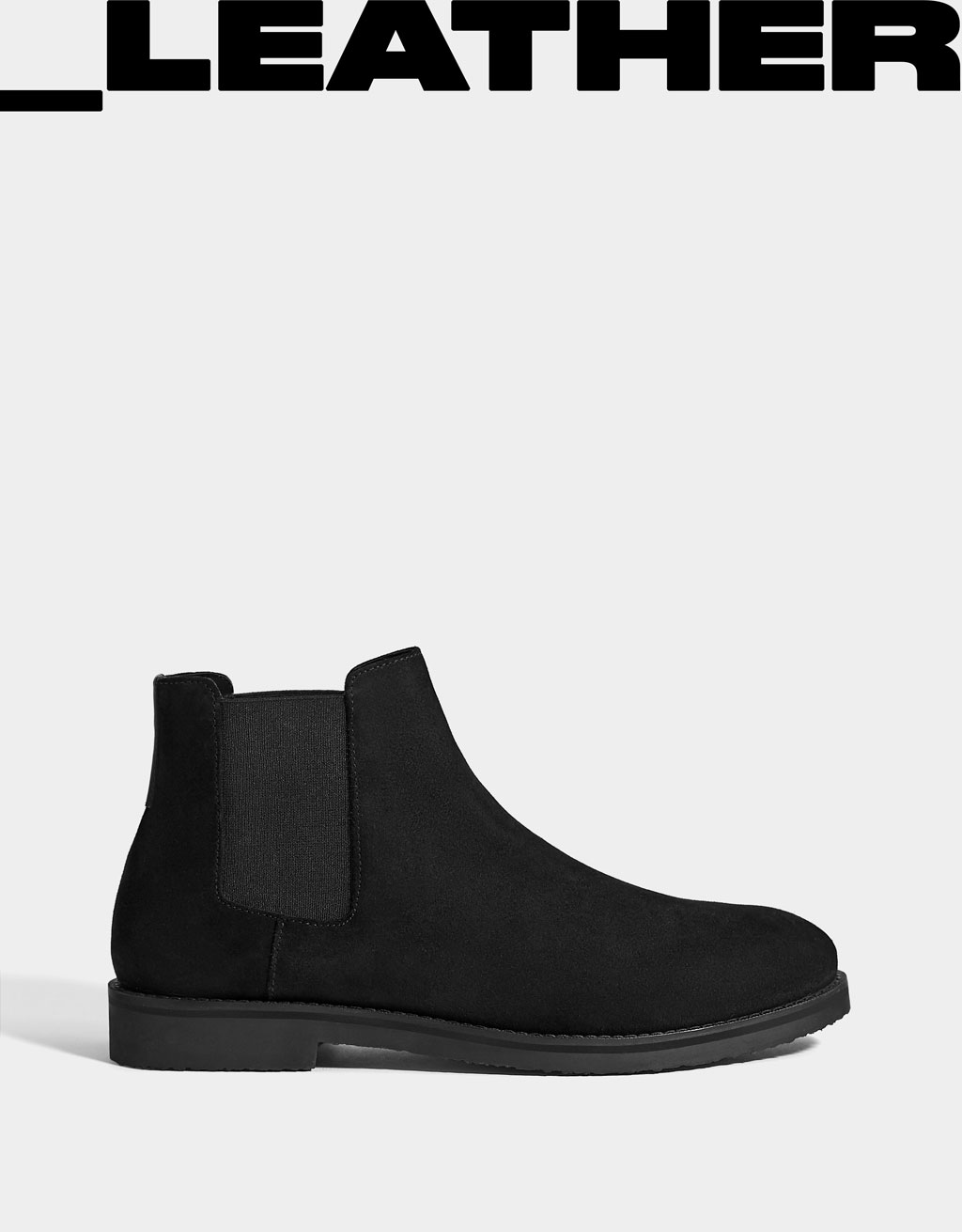 Men's LEATHER stretch ankle boots