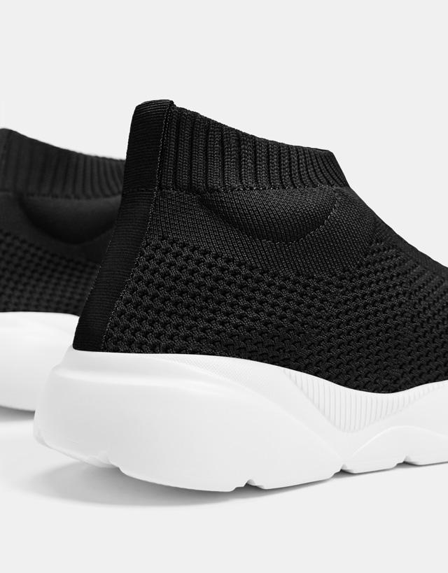 High-top Sneaker mit elastischem Schaft für Herren