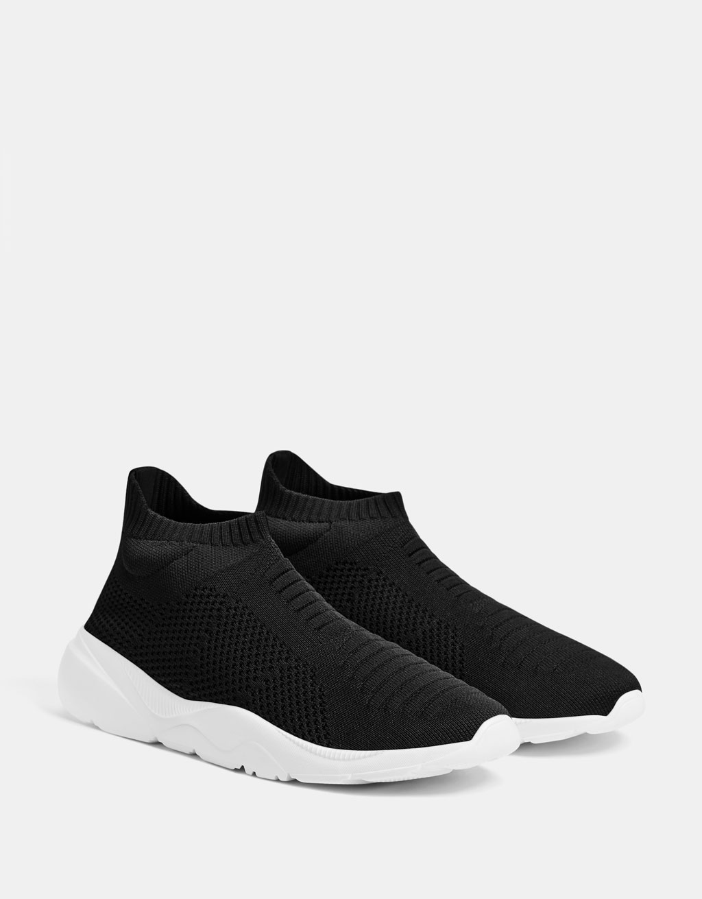 Men's sock-style high-top trainers