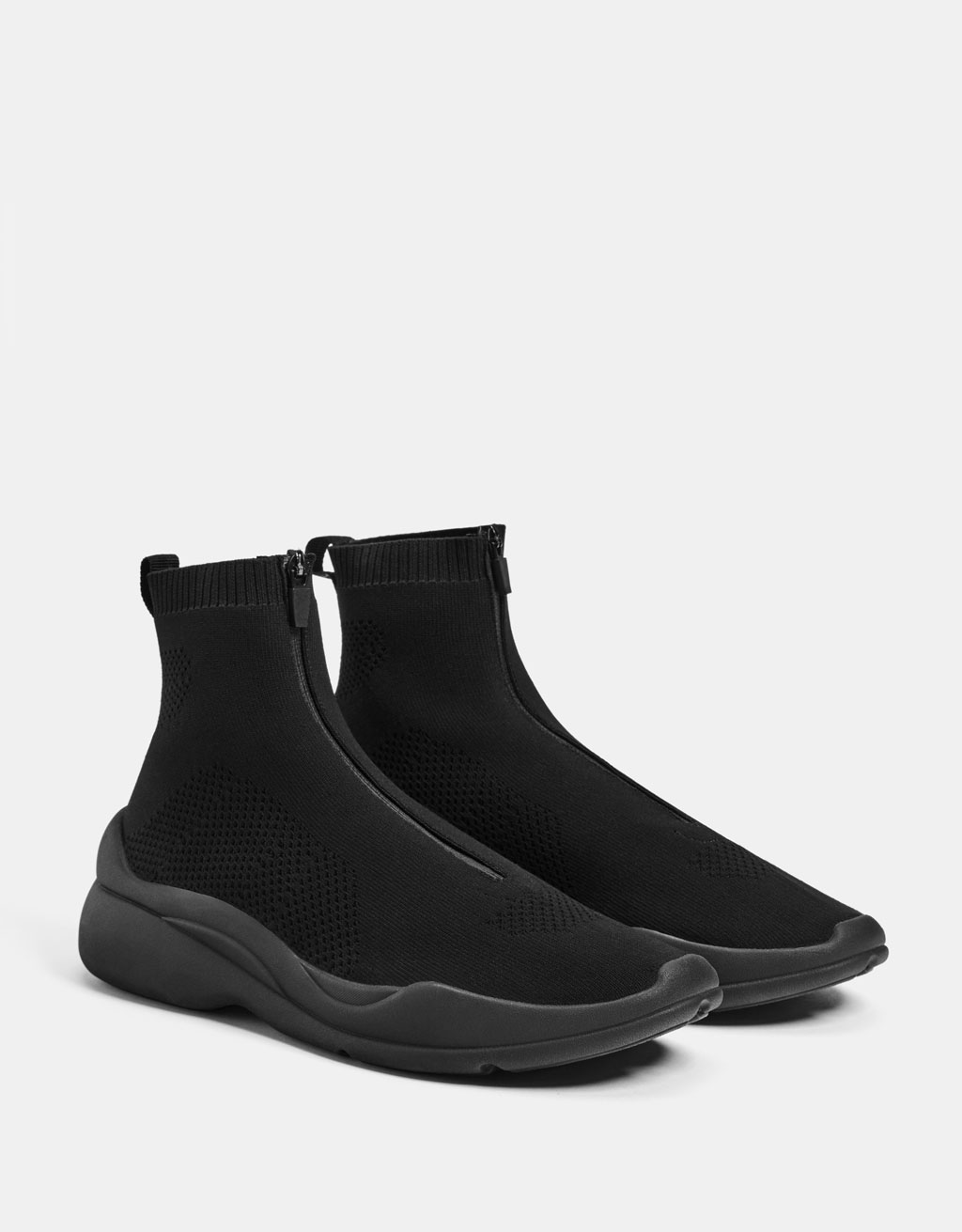 Men's zip-up sock-style sneakers
