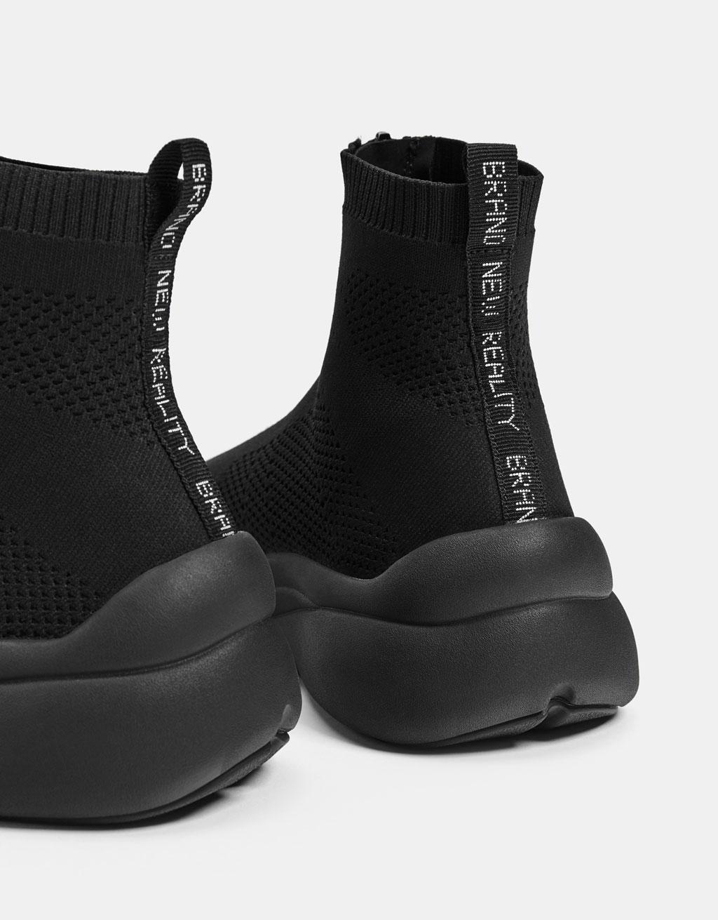 eca327870f4 Men's zip-up sock-style trainers