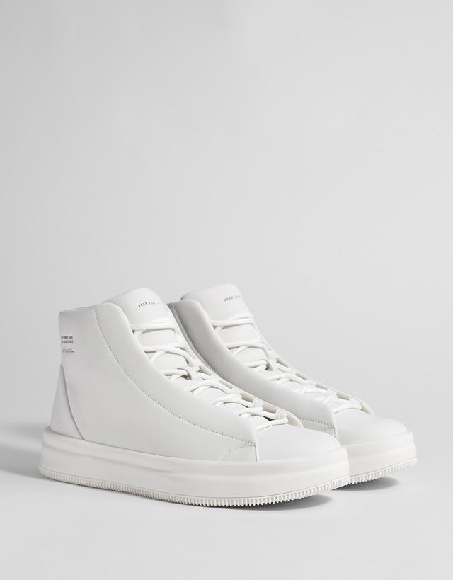 High-Top Sneaker in Weiß für Herren