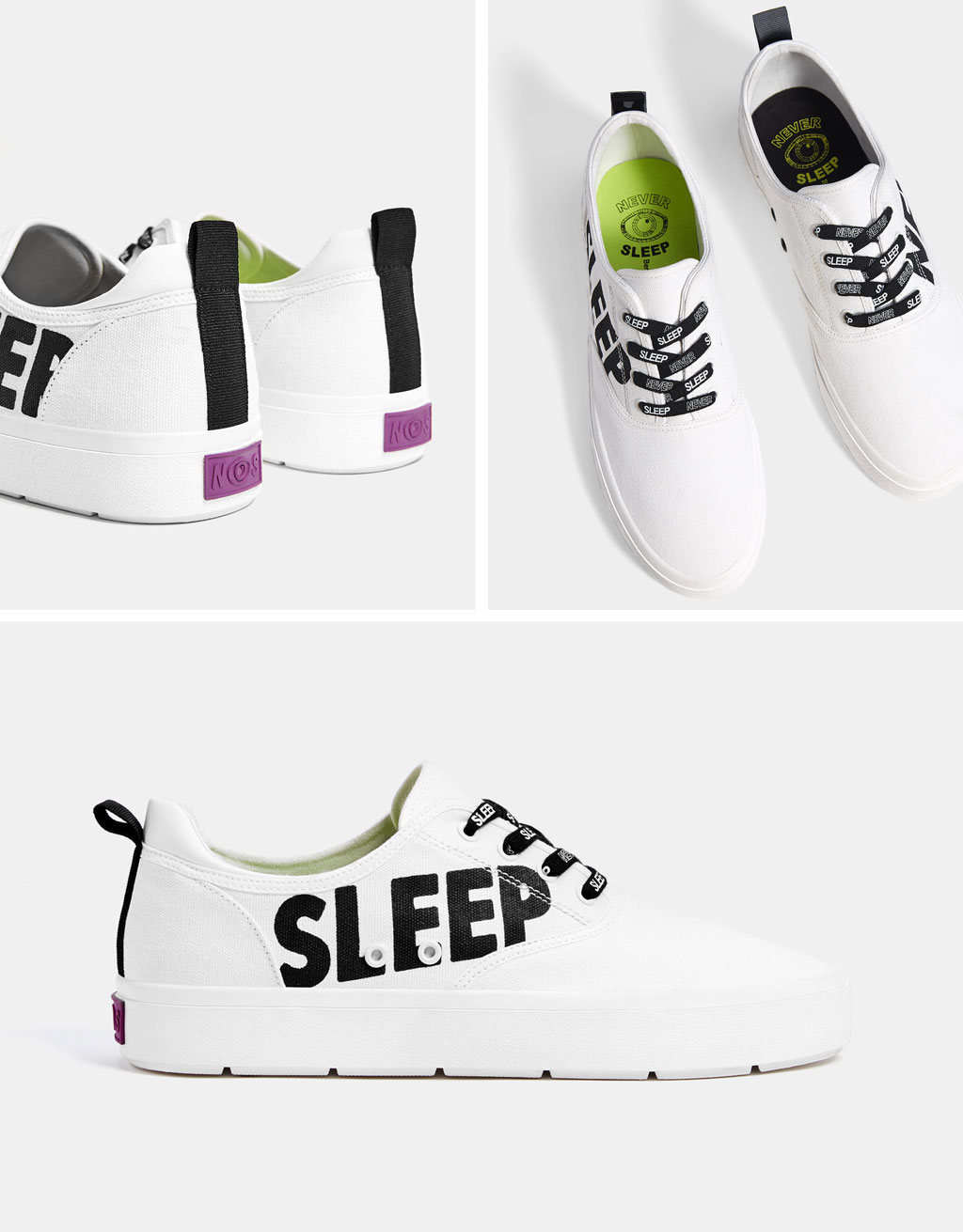 Men's slogan sneakers