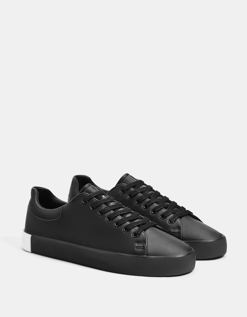 Solid colour black message men's trainers