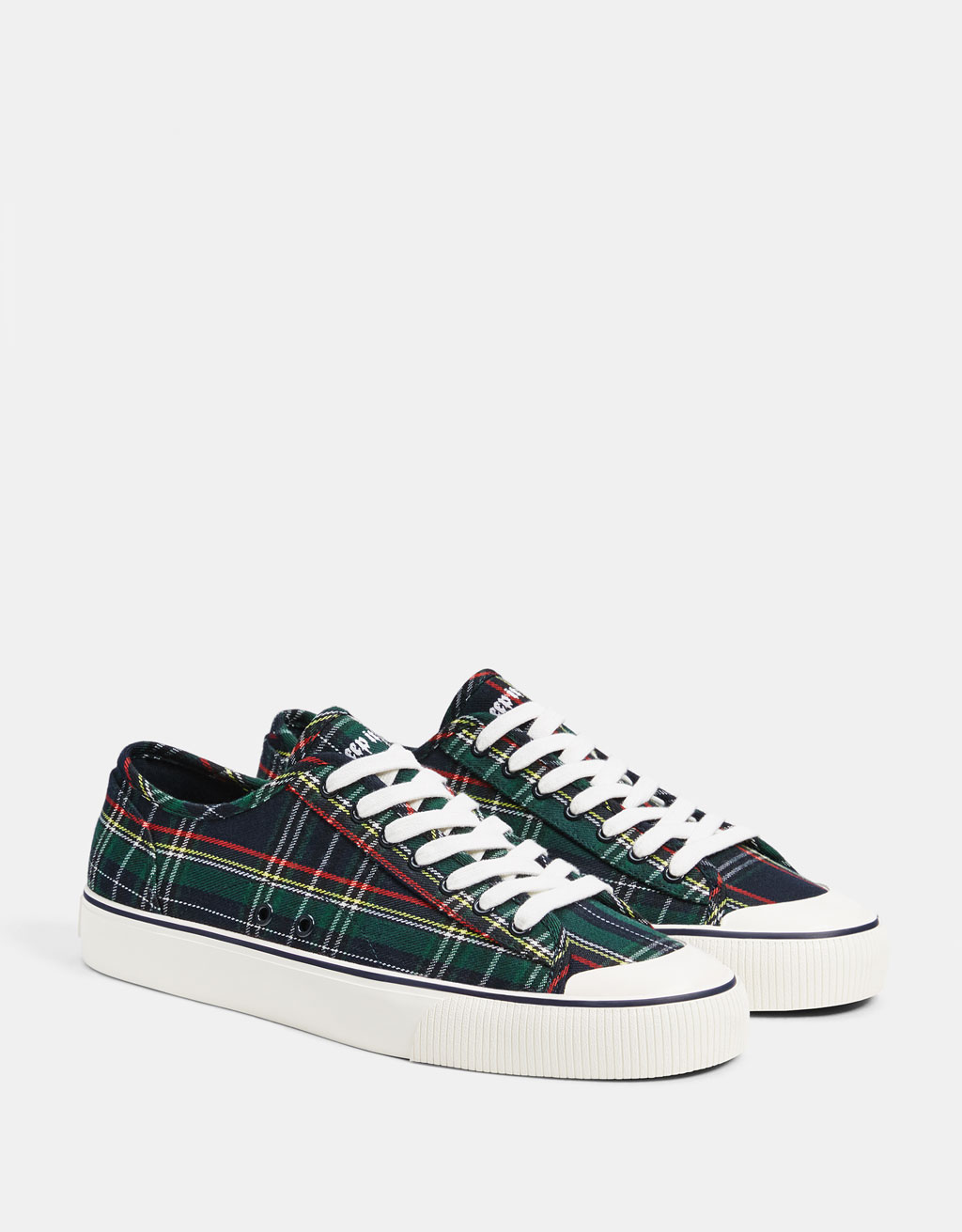 Men's checked trainers