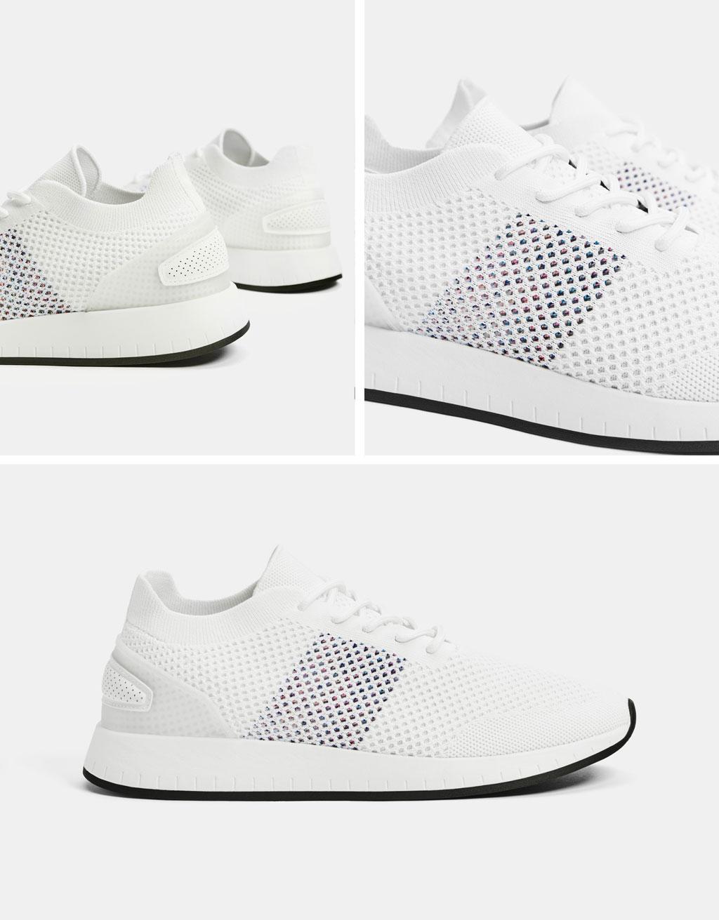 Sneaker da uomo con reticella